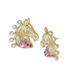 Gold Horse Filigree Earrings