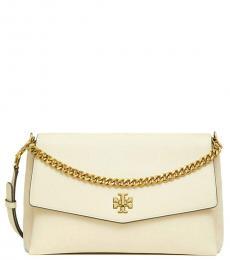 Cream Kira Double-Strap Shoulder Bag