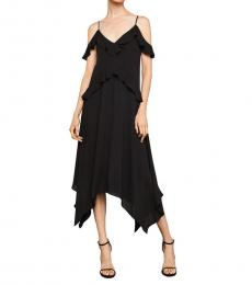 Black Lissa Asymmetric Slip Dress