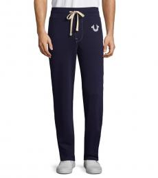 True Navy Drawstring Jogger Pants