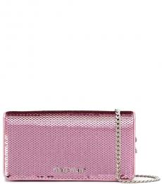 Pink Sequin Mini Crossbody