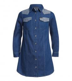 Calvin Klein Little Girls Indigo Shirt Dress