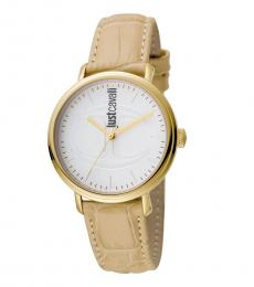 Just Cavalli Ivory White Dial Watch