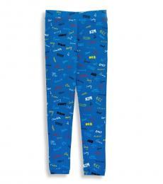 Little Girls Blue Tula Leggings