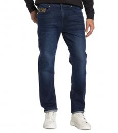 True Religion Dark Blue Rocco Relaxed Skinny Jeans