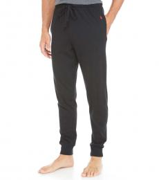 Black Relaxed Fit Cotton Knit Joggers