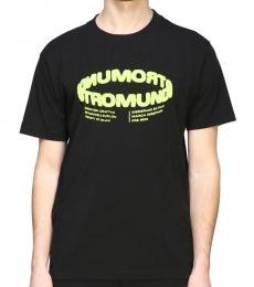 Marcelo Burlon Black Graphic Print T-Shirt