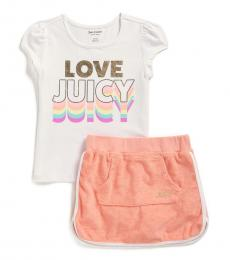 Juicy Couture 2 Piece T-Shirt/Scooter Skirt Set (Girls)