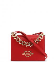 Love Moschino Red Chain Small Crossbody