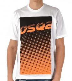White Embroidery Logo T-Shirt