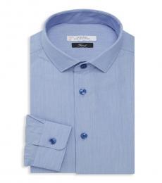 Blue Logo Embroidered Shirt