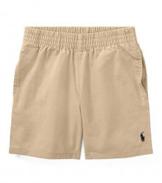 Ralph Lauren Little Boys Khaki Chino Pull-On Shorts