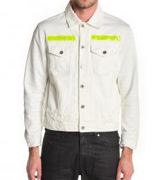 Diesel White Hill Contrast Stripe Jacket