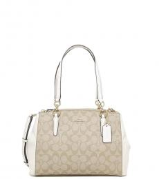 Light Khaki/Chalk Christie Medium Satchel