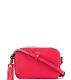 Furla Red Mini Zip Mini Crossbody