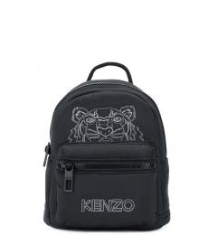 Black Logo Mini Backpack