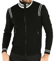Neil Barrett Black Zipped Turtleneck Jacket