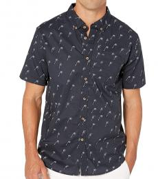 Navy Blue Mini Short Sleeve Shirt