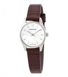 Calvin Klein Brown Classic Quartz Silver Dial Watch