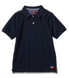 7 For All Mankind Boys Navy Slouchy Polo