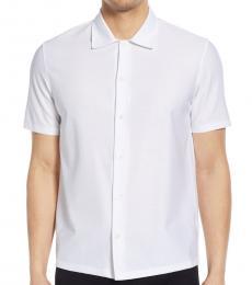 White Isak Short Sleeve Shirt