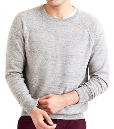 Grey Slim Textured Sweater