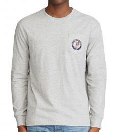 Grey Classic Fit Logo Long-Sleeve T-Shirt