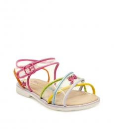 Juicy Couture Baby Girls Multicolor Cross Strap Sandals