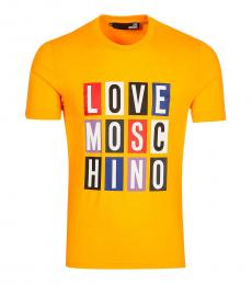 Love Moschino Yellow Graphic Logo T-Shirt