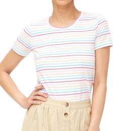 Multi Color Rainbow Stripe Cotton Tee