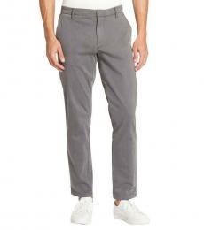 DKNY Grey Straight Leg Mid-Rise Chinos