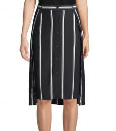 Rag And Bone Navy Stripe Debbie Striped Skirt