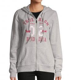 True Religion Ruby Red Zip-Up Cotton Jacket