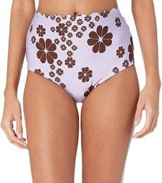Kate Spade Frozen Lilac High-Waisted Bikini Bottoms