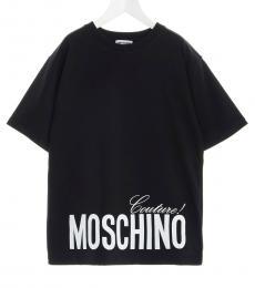 Moschino Boys Black Logo T-Shirt