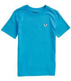 True Religion Boys Blue Core Buddha T-Shirt