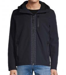 Calvin Klein Navy Blue Fur-Lined Hooded Jacket