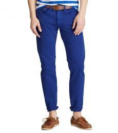 Ralph Lauren Royal Blue Varick Slim Straight Jean