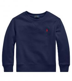 Ralph Lauren Little Boys Cruise Navy Cotton-Blend-Fleece Sweatshirt