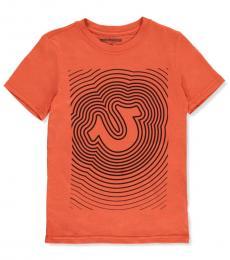 True Religion Boys Orange Graphic T-shirt