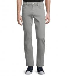 7 For All Mankind Light Grey Classic Slim-Fit Jeans