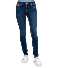 Majestic Indigo Super Stretch Skinny Big T Jeans
