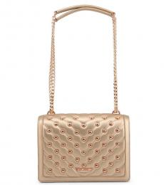 Love Moschino Gold Heart Small Shoulder Bag
