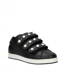Jimmy Choo Black Jewel Strap Sneakers