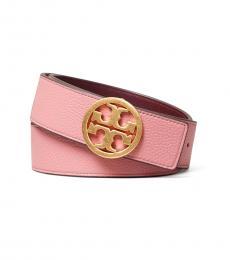 Tory Burch Pink Magnolia-Port Reversible Logo Belt