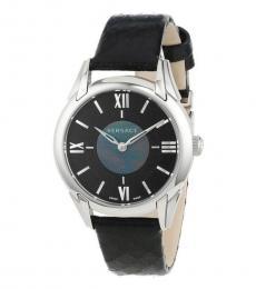 Versace Black Dafne Logo Watch