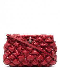Valentino Garavani Red Spikeme Large Crossbody Bag