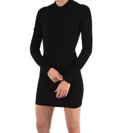 Dsquared2 Black Long Sleeve Sheath Dress