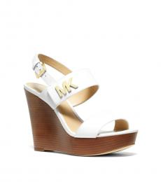 Michael Kors White Deanna Logo Wedges