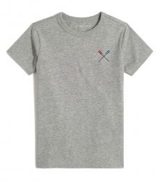 J.Crew Little Boys Heather Grey Graphic T-Shirt